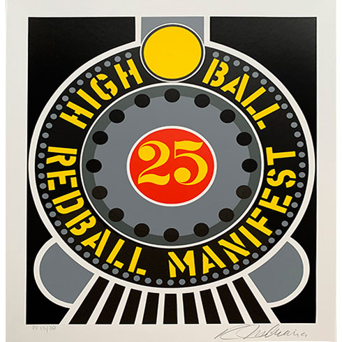 En venta Portfolio de Robert Indiana, The American Dream Portfolio, serigrafía en venta Highball on the redball manifest
