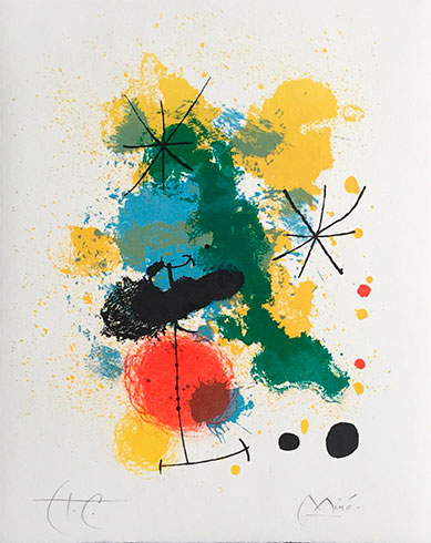 Prints from the Mourlot Press, Litografía de Joan Miró, obra gráfica en venta