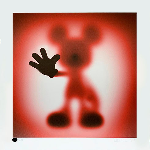 Whatshisname (Sebastian Burdon), Serigrafía Gone Mickey Red a la venta, comprar