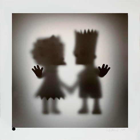Whatshisname (Sebastian Burdon), glicée 'Gone Lisa and Bart', obra gráfica a la venta