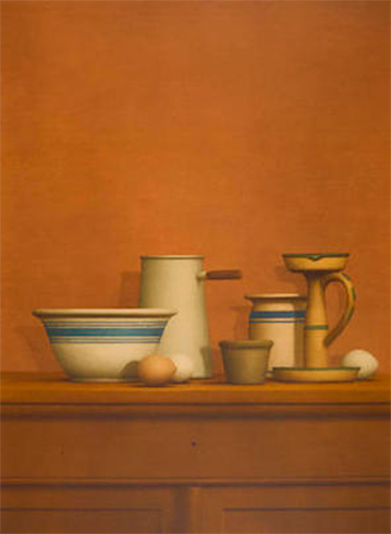 Still Life with Eggs, Candlestick and Bowl, Collotype de William Bailey, obra gráfica en venta